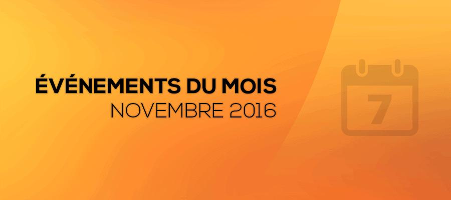 Conférences, webinaires et rendez-vous BIM du mois de Novembre