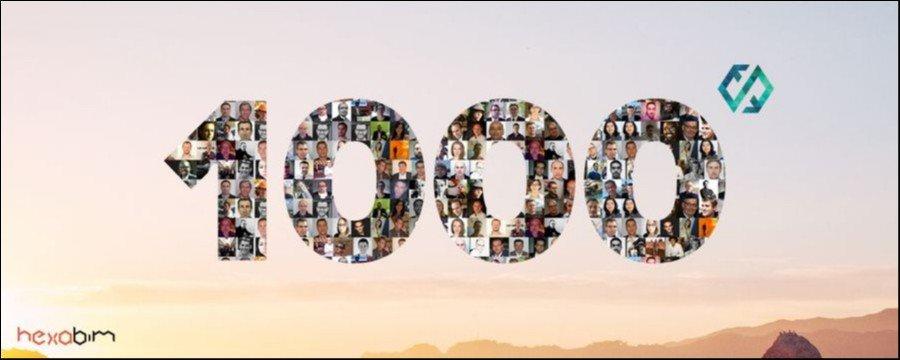 hexaBIM fête son 1000 ème membre avec Jean-Michel CELY