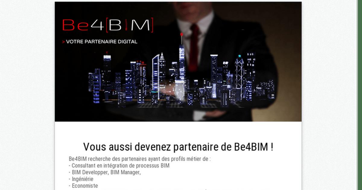 Vous aussi devenez partenaire de Be4BIM !