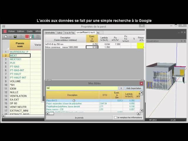 logiciel chauffage ventilation climatisation bim  lecture