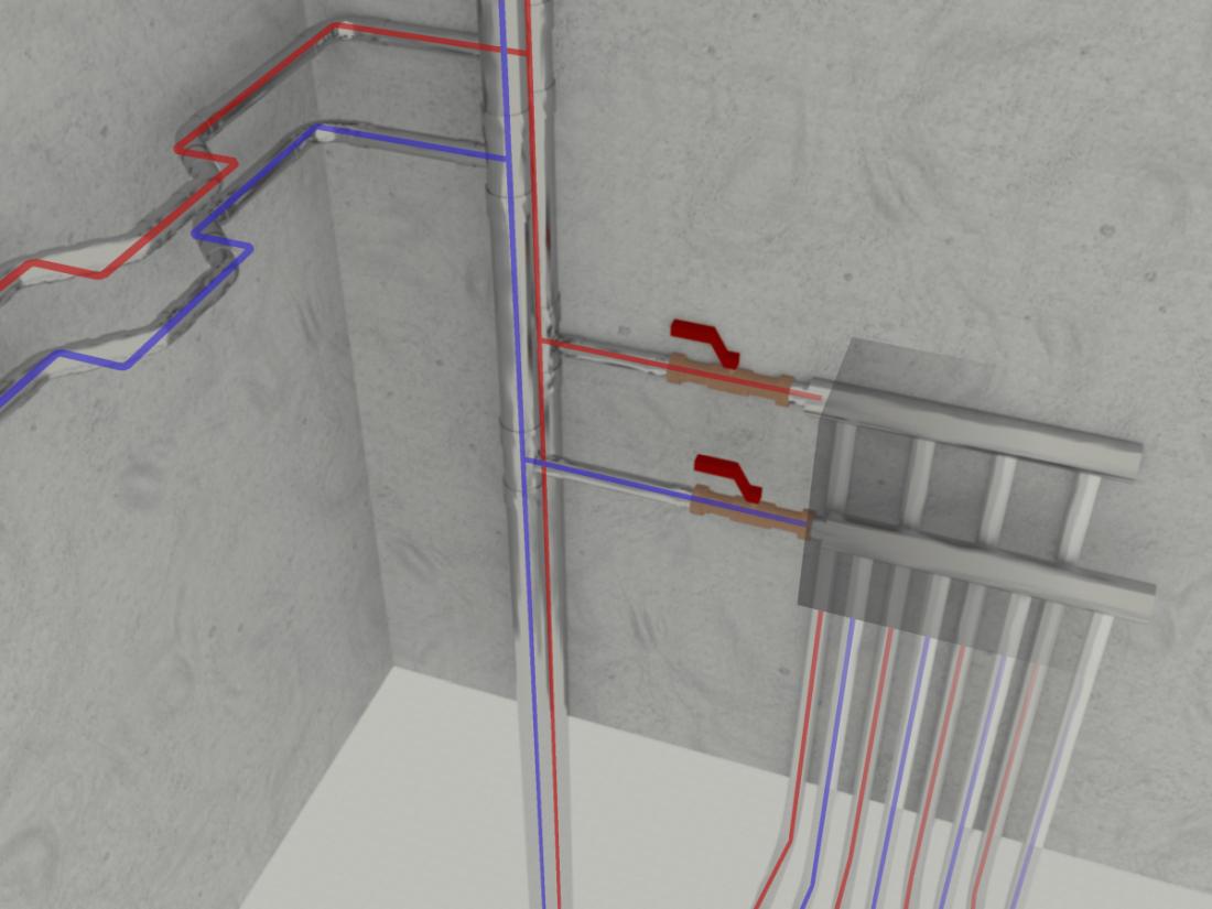 Production filaire en 3D des réseaux d'alimentation sanitaire et de chauffage