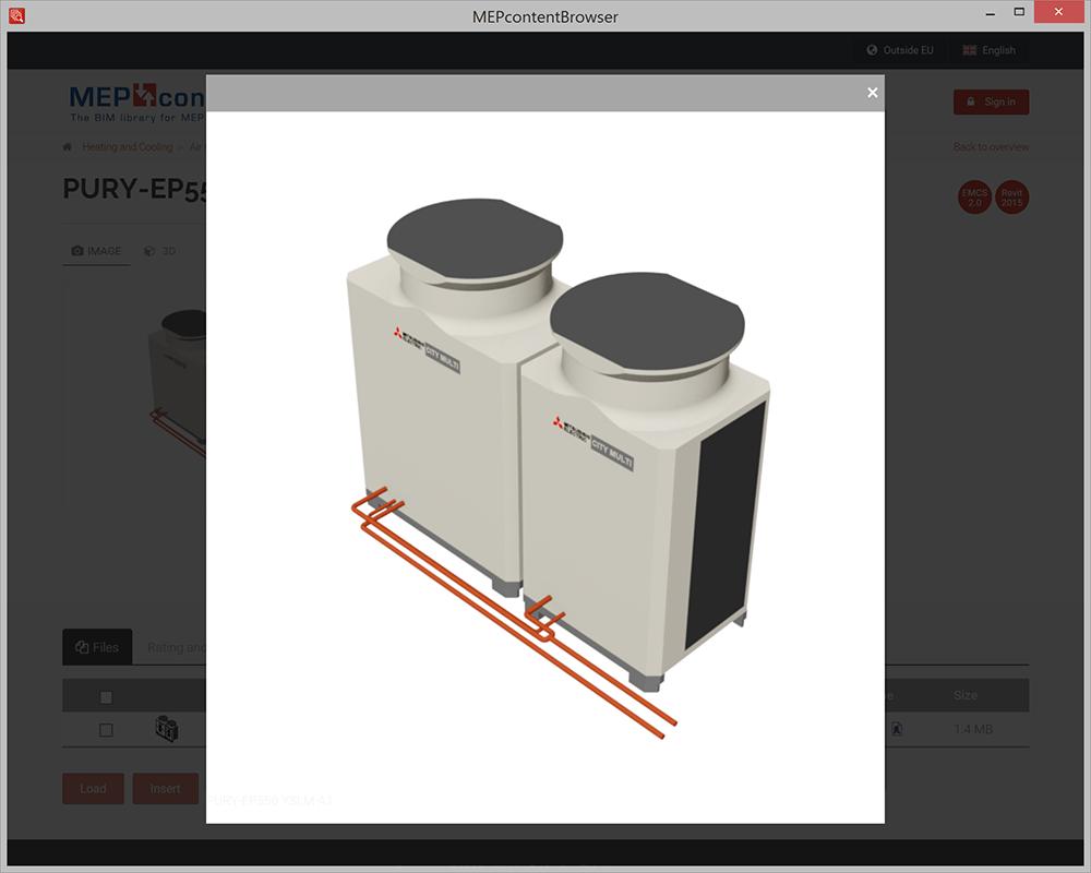 Le navigateur MEPcontent pour Revit en plugin (et Autocad)