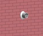 Ventouse gaz au mur