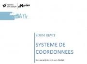 Zoom REVIT - Tutoriel système de coordonnées