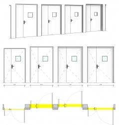 Porte tierce, embrasure paramétrique, cadre épaisseur constante