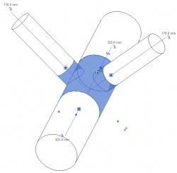 Raccord en Té Angle des branches Paramétrable