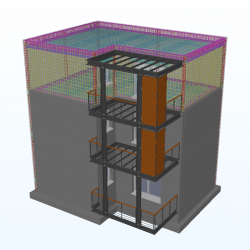 Exemple IFC Structure mixte métal + Béton + Armatures