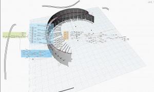 Coursive technique à partir de projection de façades
