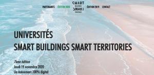 L'évènement Universities SMART BULIDINGS SMART TERRITORIES reporté au 19 novembre 2020