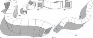 Extrusion 3D de type tunnel (avec maintien de l'horizontalité et de la verticalité en section courante)