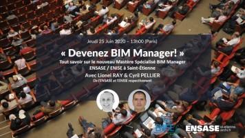 Devenez BIM Manager! Tout savoir sur le nouveau Mastère Spécialisé BIM Manager ENSASE / ENISE