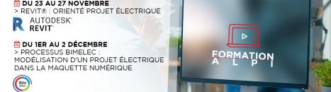 Formations ALPI en novembre et décembre : concevez vos installations électriques en BIM