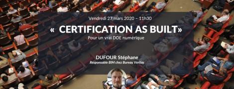 Certification AS BUILT pour un vrai DOE numérique