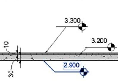 Etiquette de dalle avec lignes de rappel