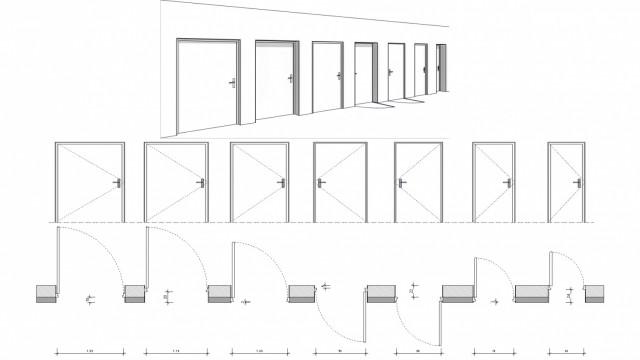Porte Cadre épaisseur constante Embrasure variable