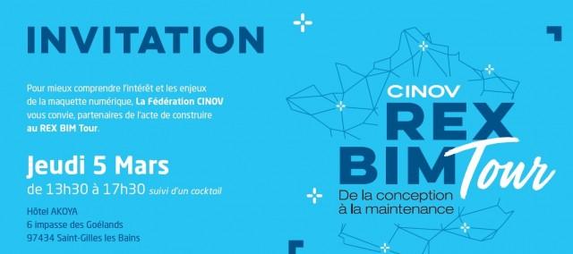 Le REX BIM Tour arrive à l'île de La Réunion le 5 Mars 2020