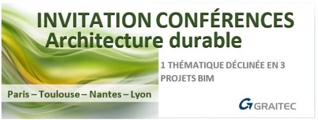 Architecture durable et BIM : 4 rendez-vous à ne pas manquer à Paris, Toulouse, Nantes et Lyon