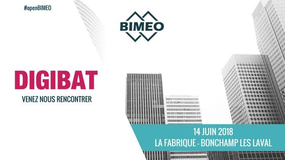 BIMEO présent au salon DIGIBAT à Laval le 14 juin prochain