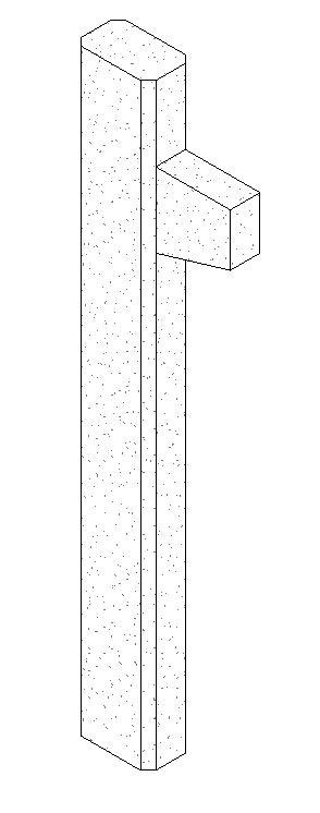 Poteau Rectangulaire Béton Armé avec corbeau