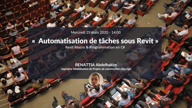 Automatisation de taches et programmation de macros dans Revit en langage C# avec Abdelhakim BENATTIA