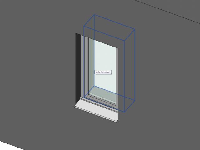 Fenêtre 1 vantail en applique extérieur OF
