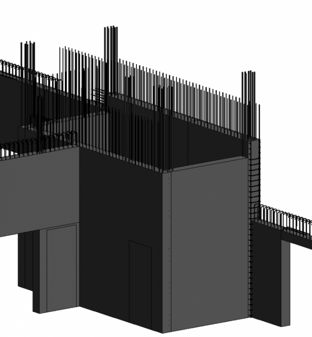 Un exemple IFC avec armatures en 3D