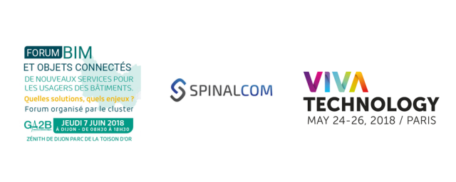 Rencontrez SpinalCom à BIMOC le 7 juin et VIVATECH les 24 et 26 mai