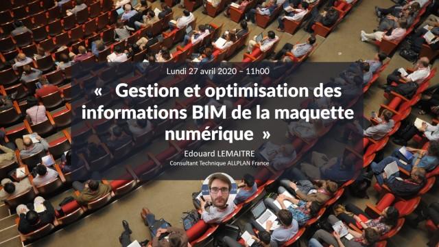 Gestion et optimisation des informations BIM de la maquette numérique sur Allplan avec Edouard LEMAITRE