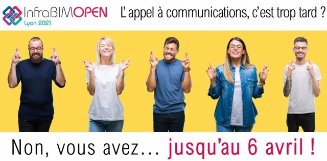 Appel à communications InfraBIM Open jusqu'au 6 avril