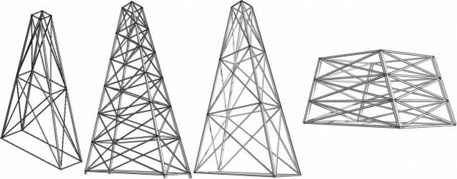 Script Dynamo pour paramétrer un pylône en charpente métallique 3 Dimensions