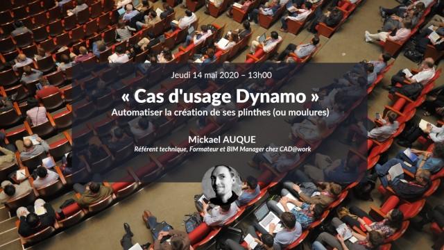Cas d'usage Dynamo : Automatiser la création de ses plinthes (ou moulures) avec Mickael Auque