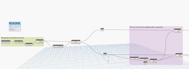 Dynamo : Calcul des surfaces de coffrage