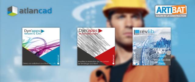 3 nouvelles solutions BIM par Atlancad : Dyn'apps Watt's On, Dyn'apps Armatures et Revlib Architecture