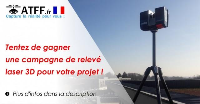 Tentez de gagner une campagne de relevé laser 3D pour votre projet !