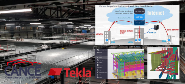 Tekla Model Sharing l'outil collaboratif BIM adopté par le Constructeur Métallique CANCE
