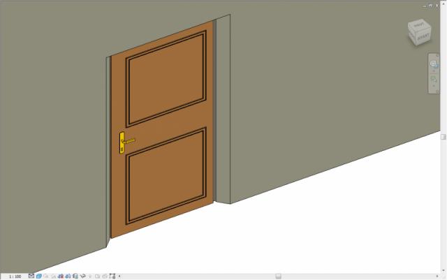 Porte extérieure avec embrasures paramétriques