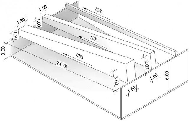 Poutre paramétrique (Inclinaison, Longueur) 2 sections différentes