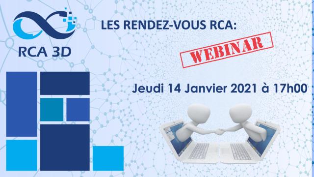 RCA 3D vous invite à son 1er rendez-vous en ligne - 14 janvier 17h