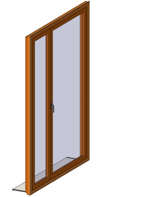 Porte fenêtre linteau droit Tiercé - Paramétrique