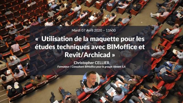 DCE BIM : Utilisation de la maquette pour les études techniques avec BIMoffice et Revit/Archicad avec Christopher CELLIER