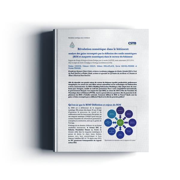 Révolution numérique dans le bâtiment : analyse des gains escomptés par la diffusion des outils numériques (BIM et maquette numérique) dans le secteur du bâtiment