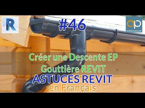 Gouttière et Descente EP : Comment créer une canalisation verticale avec #REVIT #tutorial ?
