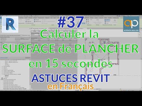 Surface de PLANCHER et REVIT : Comment la calculer en 15 secondes ? Tutorial en Français