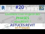 Les PHASES de Projet REVIT - Astuces, gestion et création - Exemple précis