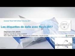 Etiquette de dalle sous Revit 2017