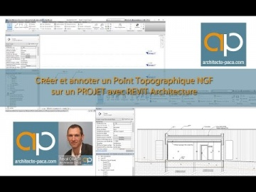 Positionner un point (NGF) de Topographie avec REVIT Architecture