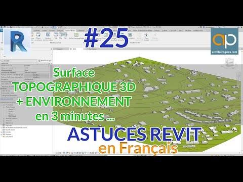 Surface topo + environnement 3D en 3 minutes