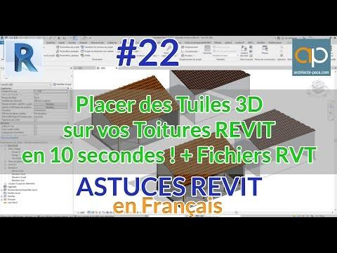 Tuiles en D avec REVIT en 10 secondes + Astuce toitures