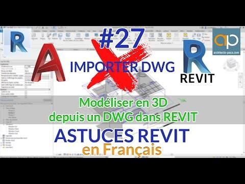 Exploiter les DWG de Autocad pour modéliser dans REVIT