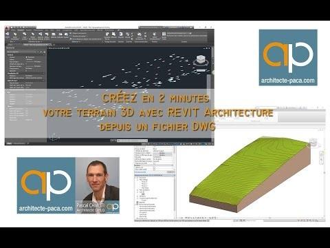 Créer un terrain 3D rapidement depuis un  fichier DWG de géomètre